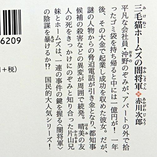 赤川次郎『三毛猫ホームズの闇将軍』